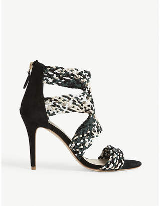 Sandro Agate suede heeled sandals