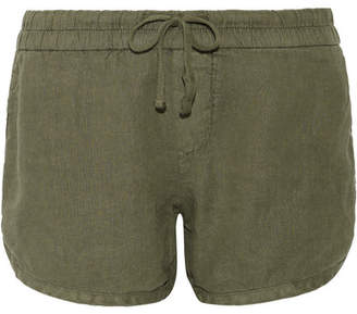 James Perse - Dolphin Linen Shorts - Army green $155 thestylecure.com