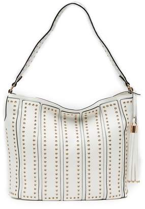 Urban Expressions Nicola Studded Vegan Leather Hobo