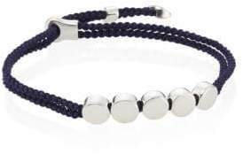 Monica Vinader Linear Bead Sterling Silver Friendship Bracelet/Navy