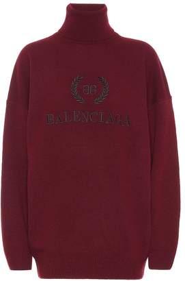 Balenciaga BB wool and cashmere sweater