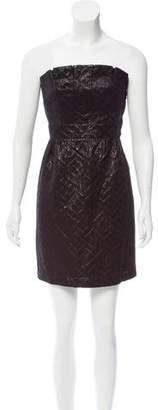 Tibi Strapless Brocade Dress w/ Tags