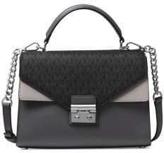 MICHAEL Michael Kors Sloan Double-Flap Leather Crossbody Bag