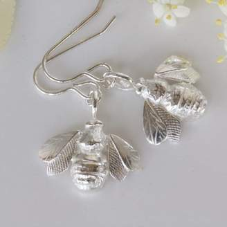 66cbd8d25 Caroline Brook Silver Bee Earrings