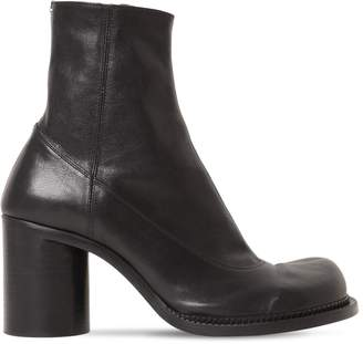Maison Margiela 80MM MABY LEATHER ANKLE BOOTS