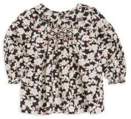 Bonpoint Baby Girl's& Girl's Cotton Floral Blouse