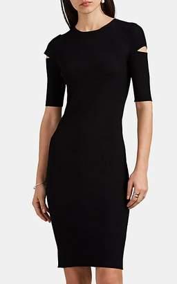 Helmut Lang Women's Stretch-Knit Midi-Dress - Black