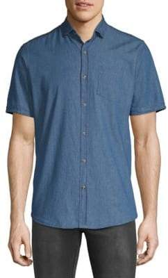 Saks Fifth Avenue Med Chambray Button-Down Shirt