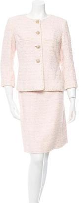 Chanel Bouclé Knee-Length Skirt Suit