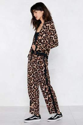 Nasty Gal Moving On Up Leopard Pants