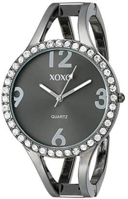 XOXO Women's XO1093 Dial Gun Metal Bangle Watch
