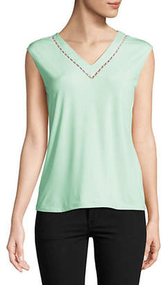 Calvin Klein Faux Pearl Embellished Top