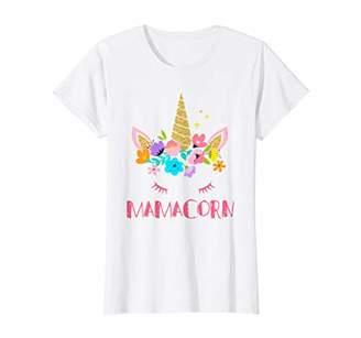 Womens Funny Mamacorn Unicorn Costume Mom Mother's Day T-Shirt