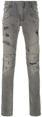 Pierre Balmain distressed slim fit jeans