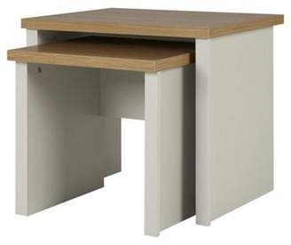 Oak nest of tables shopstyle uk at ff clothing tesco somerton nest of tables grey oak effect watchthetrailerfo