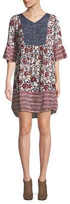Style&Co. STYLE & CO. Petite Regal Radi Mix Print Dress