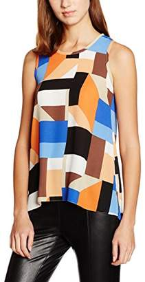 Dorothy Perkins Women's Square Print Built up Tank Top,6