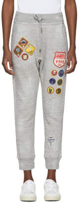 DSQUARED2 Grey Destroyed Bad Scout Lounge Pants