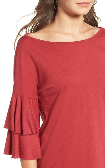 Women's Ten Sixty Sherman Ruffle Sleeve Tee 2