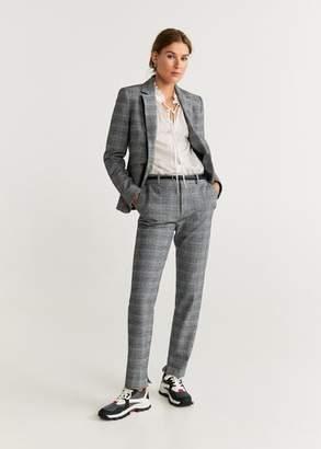 MANGO Check suit pants brown - 2 - Women
