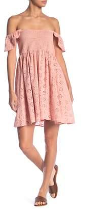 Elan International Elastic Short Sleeve Dress