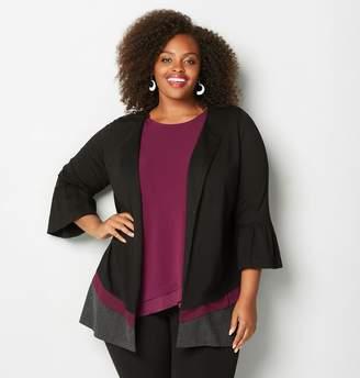 Avenue Bell Sleeve Colorblock Jacket