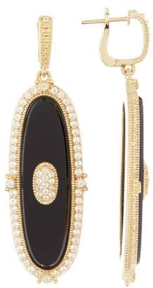 Judith Ripka 14K Gold Plated Sterling Silver Westport Elongated Oval Slice Dangle Earrings