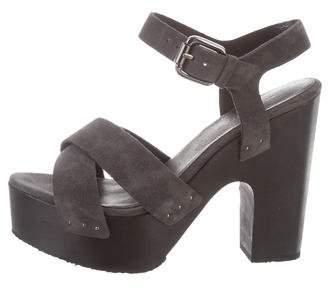 937ea43e9ce Grey Suede Platform Shoes - ShopStyle