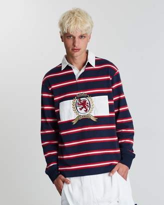 Tommy Jeans Stripe Crest Rugby Shirt - Men's