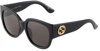 Gucci Oversized Round Acetate Sunglasses