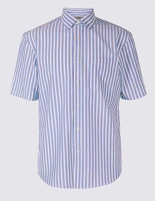 Marks and Spencer Modal Blend Striped Shirt with Pocket