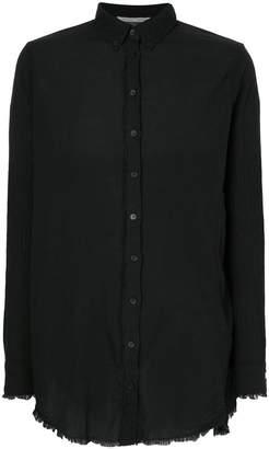 Aleksandr Manamis frayed-hem long-sleeve shirt
