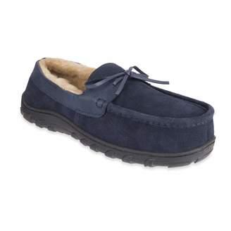 0f710e272c23 Chaps Men s Slipper House Shoe Moccasin Memory Foam Suede Indoor Outdoor  Nonslip Sole