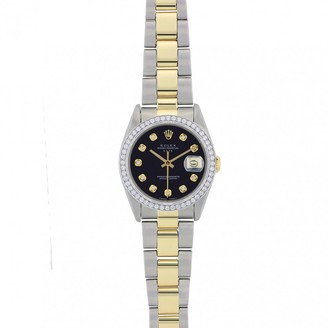 Rolex Oyster Perpetual 34mm Black gold and steel Watches