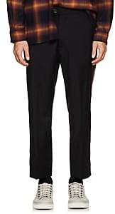 ADAPTATION Men's Striped Wool Trousers - Black