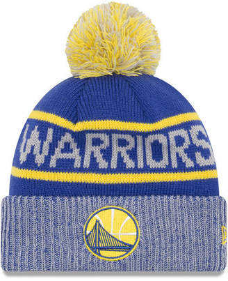 New Era Golden State Warriors Court Force Pom Knit Hat