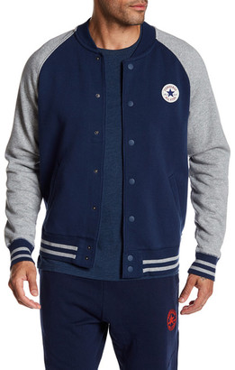 Converse Core Snap Baseball Jacket $70 thestylecure.com