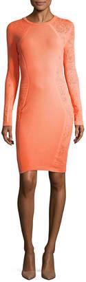 Versace Long-Sleeve Sheath Dress