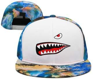 SJSNBZ Shark Eye and Teeth Breathable Womens Mens Snapback Hat