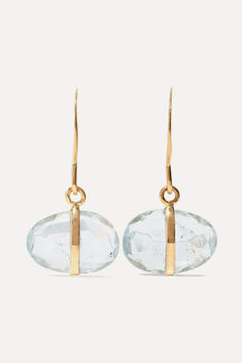Melissa Joy Manning 14-karat Gold Aquamarine Earrings