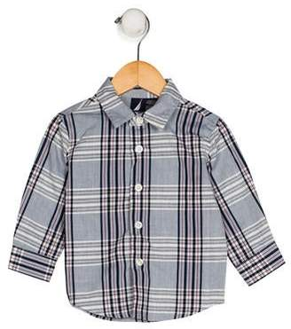 Nautica Boys' Plaid Print Shirt