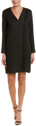 Vince Pintuck Silk Shift Dress