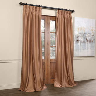 Willa Arlo Interiors Forbell Solid Blackout Vintage Textured Faux Dupioni Thermal Pinch Pleat Single Curtain Panel