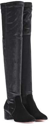 Aquazzura Velvet boots