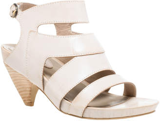 Max Studio manila : waxed leather curved heel sandals