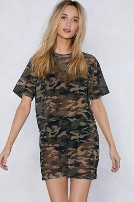 Nasty Gal You Mesh Believe It Camo Dress