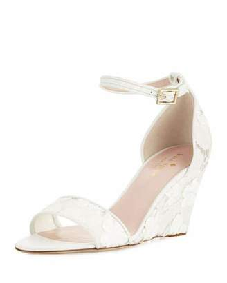Kate Spade Roosevelt Lace Wedge Sandal, Off White