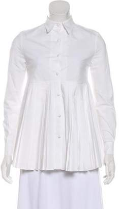 Co Point Collar Button-Up Blouse