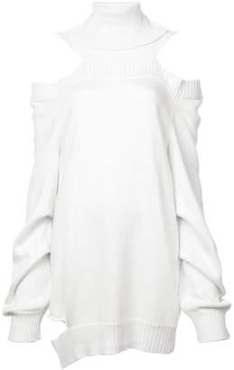 Valery Kovalska roll neck cold shoulder sweater