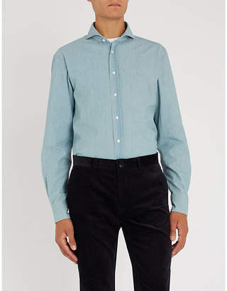 Ralph Lauren Purple Label Keaton regular-fit cotton-chambray shirt
